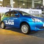 Toyota Etios Liva live images front three quarters