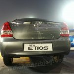 Toyota Etios facelift live images rear view