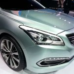 Hyundai Mistra head light at the 2013 Auto Shanghai