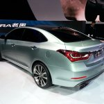 Hyundai Mistra rear three quarter at the 2013 Auto Shanghai