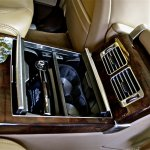 Range Rover rear seat storage