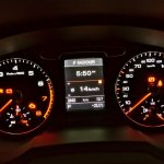 Instrument cluster of Audi Q3 petrol