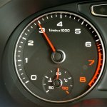 Tachometer of Audi Q3 petrol