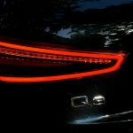 Rear tail lights of the Audi Q3 petrol