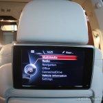 2013 BMW 7 series rear entertainment