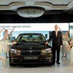 Mr. Philipp von Sahr, President, BMW Group India with the new BMW 7 Series..