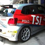 2013 VW Polo R CUP rear three quarters right
