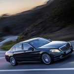 2014 Mercedes S Class driving in the dark