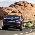 2014 Mercedes S Class rear in motion