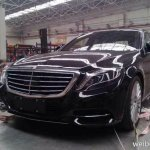 2014 Mercedes S Class spied in China front three quarter