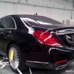2014 Mercedes S Class spied in China rear three quarter