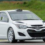 Hyundai i20 WRC testing front three quarters
