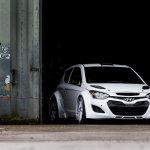 Hyundai i20 WRC testing front