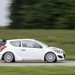 Hyundai i20 WRC testing side