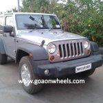 Jeep Wrangler spied in Goa short wheelbase front