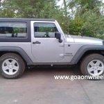 Jeep Wrangler spied in Goa short wheelbase side