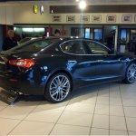 Maserati Ghibli in showroom