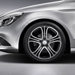 Mercedes CLA genuine accessories AMG Five Triple alloy wheel