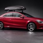 Mercedes CLA genuine accessories roof box
