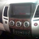 Mitsubishi Pajero Sport facelift Indonesia spyshot touchscreen display