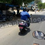 New TVS Scooter spied rear