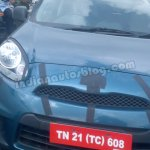 Nissan Micra low cost spied Chennai front