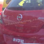 Opel Corsa spied Bengaluru rear badges