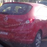 Opel Corsa spied Bengaluru rear three three quarters right