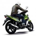 Suzuki Shooter Fi green and white rear