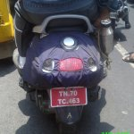 TVS new Scooter spied in Chennai rear