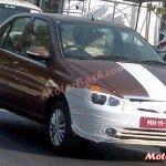 Tata Indigo eCS facelift front spied