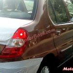 Tata Indigo eCS facelift rear spied