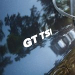 VW Polo GT TSI badge on the C-Pillar