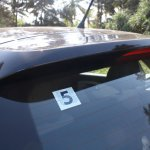 VW Polo GT TSI integrated rear spoiler