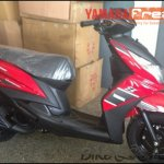Yamaha Ray Z spied red black front side