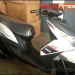 Yamaha Ray Z spied white and black front three quarters