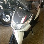 Yamaha Ray Z spied white and black front