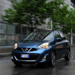 2013 Nissan Micra facelift headlights on