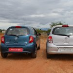 2013 Nissan Micra vs old Nissan Micra comparison rear