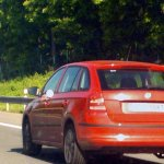 2013 Skoda Rapid Spaceback rear spyshot