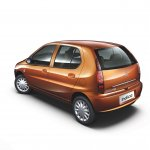 2013 Tata Indica eV2 rear three quarter view