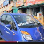 2013 Tata Nano new body color and chrome strip on the bonnet