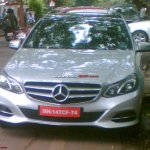2014 Mercedes E Class spied in India front