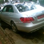 2014 Mercedes E Class spied in India rear