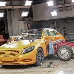 2014 Mercedes S-Class side impact test