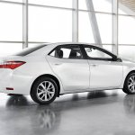 2014 Toyota Corolla European version rear three quarter