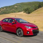 Front right three quarter 2014 Toyota Corolla
