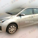 Front three quarters of the 2014 Toyota Yaris spotted in China