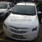 Front view of the 2014 Chevrolet Agile spied in Brazil