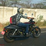 Harley Davidson entry level cruiser spied testing in Faridabad